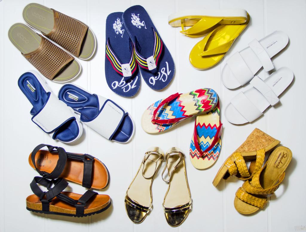 sandály prosvětlené