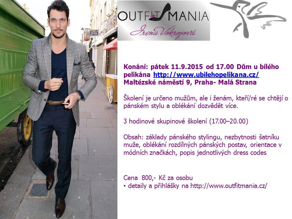 Pozvánka pánský styl Pelikán září 2015