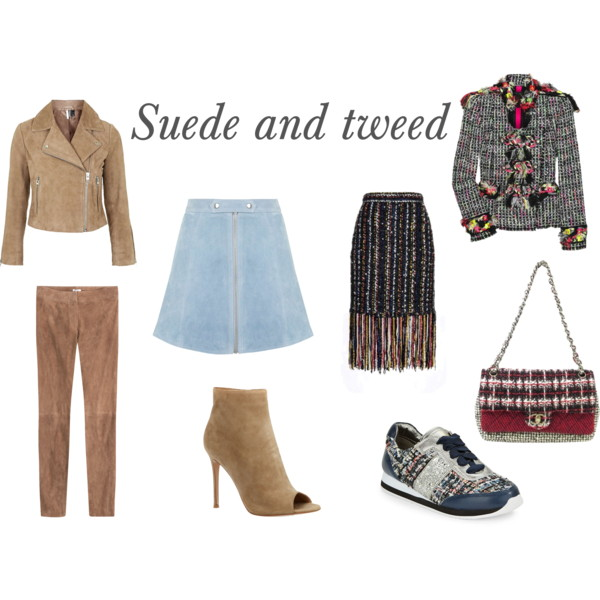 Suede and tweed