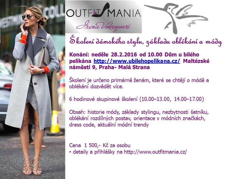 Pozvánka dámský styl Pelikán 28 únor 2016