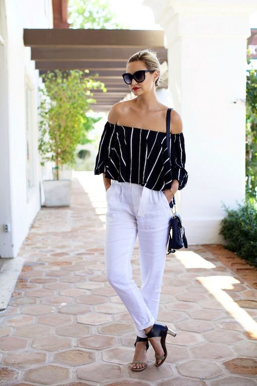 off-shoulder-top-with-white-pants