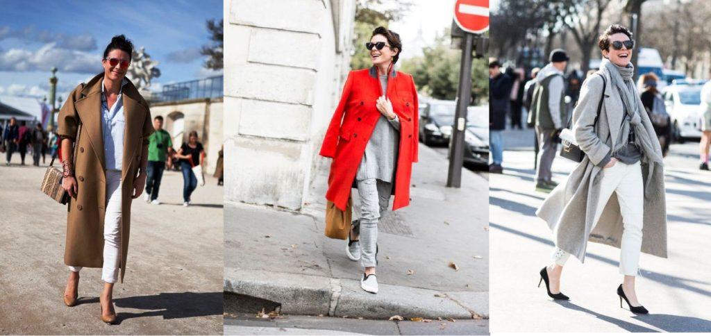 paris fashionweek valentino, black and white, long coat, brown, beig, grey