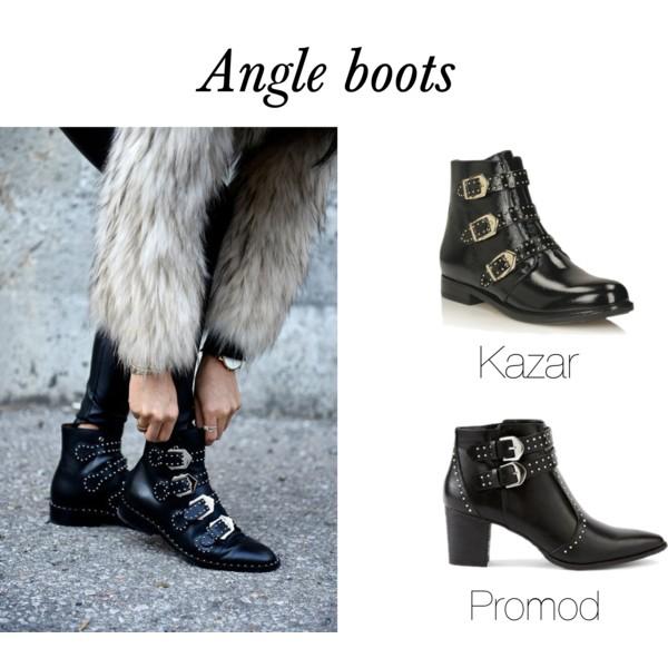 Angle boots